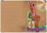 Обложка на паспорт с уголками, Пин Ап 20