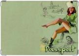 Обложка на паспорт с уголками, Пин Ап 11
