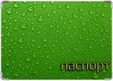Обложка на паспорт с уголками, магия зеленого