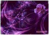 Обложка на паспорт с уголками, прекрасная роза
