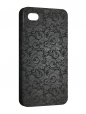 Чехол iPhone 4/4S, Черная Хохлома