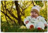 Обложка для свидетельства о рождении, Малыш в лесу