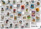 Обложка на паспорт с уголками, Love is...