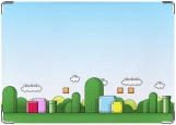 Обложка на автодокументы с уголками, Мир Марио