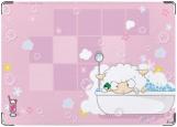Обложка на паспорт с уголками, sheep in the bath