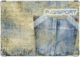 Обложка на паспорт с уголками, Jeans