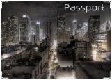 Обложка на паспорт с уголками, Сити