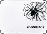 Обложка на паспорт с уголками, Паук.