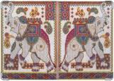 Обложка на паспорт с уголками, слонопотам