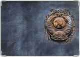 Обложка на паспорт с уголками, СССР гранж