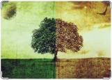 Обложка на паспорт с уголками, дерево