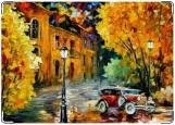 Обложка на автодокументы с уголками, Вечер Осень