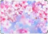 Обложка на автодокументы с уголками, Нежные цветочки