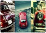 Обложка на автодокументы с уголками, retro red car