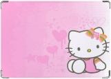 Обложка на автодокументы с уголками, Hello Kitty