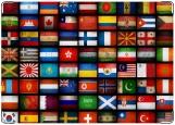 Обложка на автодокументы с уголками, Флаги