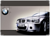 Обложка на автодокументы с уголками, BMW