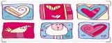 Обложка на зачетную книжку, Цветные сердечки