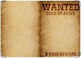 Обложка на паспорт с уголками, Wanted