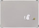 Обложка на паспорт с уголками, Кошечка и клубочек