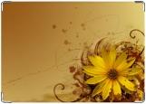 Обложка на автодокументы с уголками, цветы