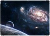 Обложка на автодокументы с уголками, Галактика