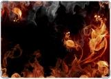 Обложка на автодокументы с уголками, Пламя