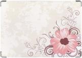 Обложка на паспорт с уголками, цветок