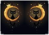 Обложка на автодокументы с уголками, Сырная луна)