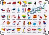 Обложка на паспорт с уголками, Europe