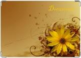 Обложка на автодокументы с уголками, цветок