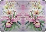Обложка на автодокументы с уголками, Орхидеи