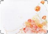 Обложка на паспорт с уголками, Цветы на белом