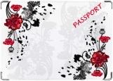 Обложка на паспорт с уголками, цветочки
