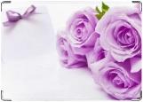 Обложка на паспорт с уголками, Розы, цвет при печати больше розовый.