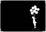Обложка на паспорт, Девочка и воздушные шарики