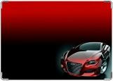 Обложка на автодокументы с уголками, Красная ауди