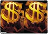 Обложка на автодокументы с уголками, Доллар