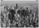 Обложка на паспорт с уголками, Нью Йорк черно-белый