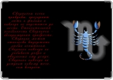 Обложка на паспорт с уголками, Скорпион