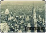 Обложка на автодокументы с уголками, нью-йорк