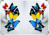 Обложка на автодокументы с уголками, райские бабочки