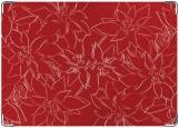 Обложка на паспорт с уголками, красная