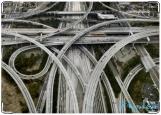 Обложка на автодокументы с уголками, дороги