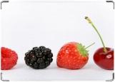 Обложка на автодокументы с уголками, ягодки
