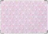 Обложка на автодокументы с уголками, розовые кролики