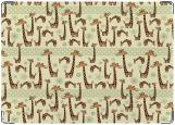 Обложка на автодокументы с уголками, жирафы