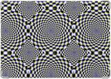Обложка на автодокументы с уголками, Оптическая иллюзия (круги)