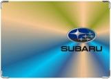 Обложка на автодокументы с уголками, Subaru