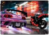 Обложка на автодокументы с уголками, Скорость (2 колеса)